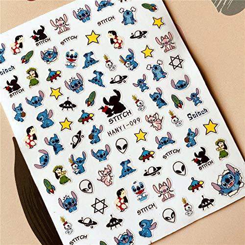 PMSMT HANYI-087 Dibujos Animados Mickey Mouse Princesa 3D Adhesivo Adhesivo para uñas Pegatina para uñas decoración de uñas Herramientas para uñas joyería de uñas