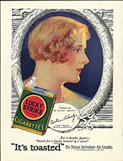 Movie star Constance Talmadge for Lucky Strike Cigarettes ad 1929