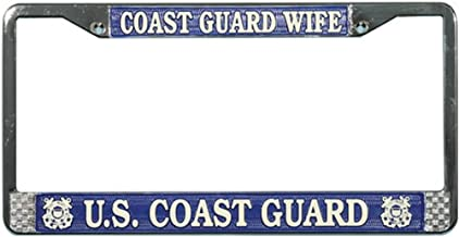 Honor Country Coast Guard Wife License Plate Frame
