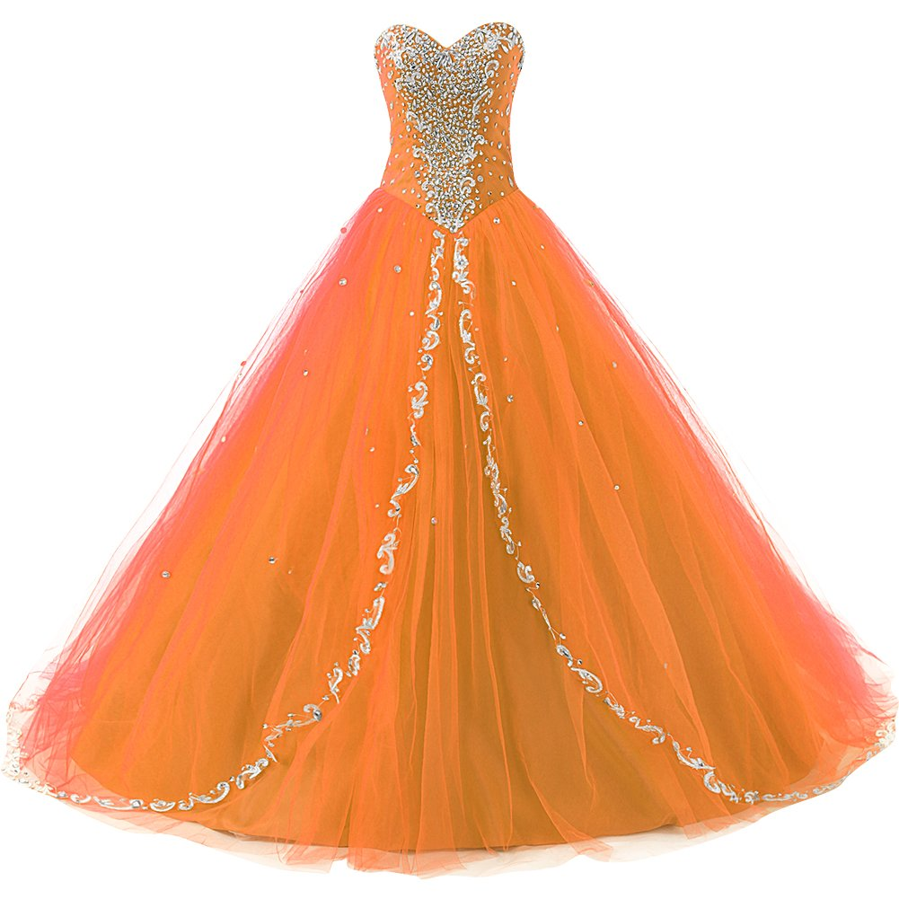 Available at Amazon: JAEDEN Wedding Sweetheart Long Quinceanera Dresses Formal Prom Dresses Ball Gown