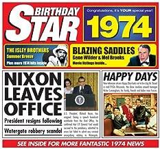 1974 Birthday Gift - 1974 Chart Hits Cd and 1974 Birthday Card