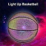 Leuchtender Basketballball Batterieloser PU-Leuchtbasketball Leuchtend hell nach Sonnenschein...
