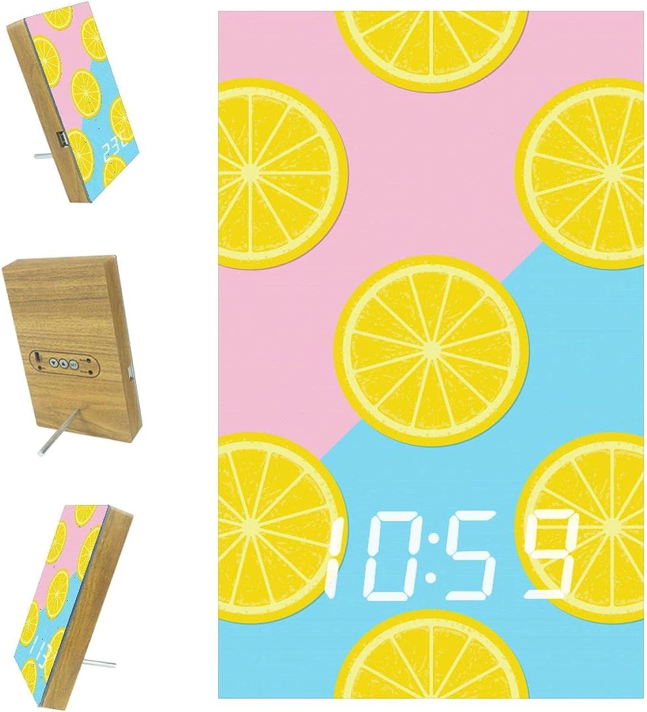 AISSO Lemon Fruit Citrus LED Alarm K Digital Bedrooms for Max 83% OFF Outstanding Clocks