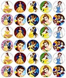 30 decoraciones comestibles para cupcakes de Beauty and The Beast Belle para tartas de cumpleaños