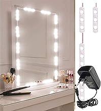 VEEKAYLIGHT Hollywood Style 10 ft DIY 60 LEDs Light Plastic Vanity Make-up Mirror Lights Kit (White)