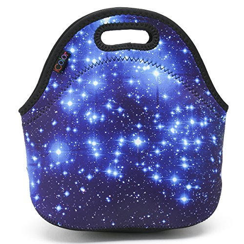 ICOLOR Star Soft Friendly Insulated Lunch box Food Bag Neoprene Gourmet Handbag lunchbox Cooler warm Pouch Tote bag For School work LB-045