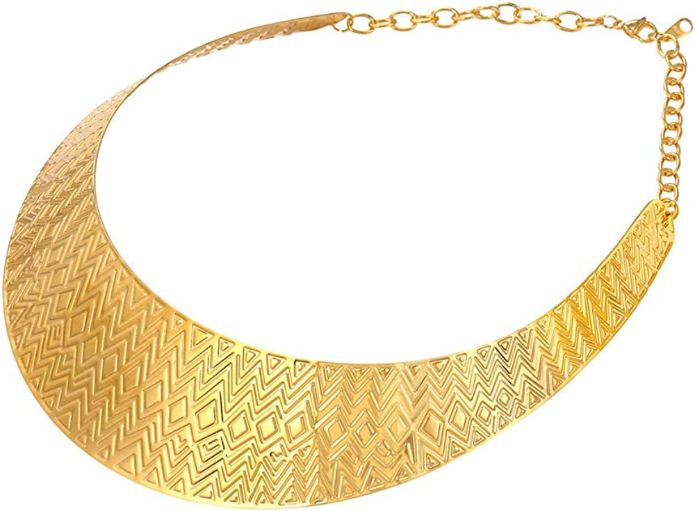 U7 Women Choker Necklace Stainless Steel At the price 18K Stat Gold Store Or Plated