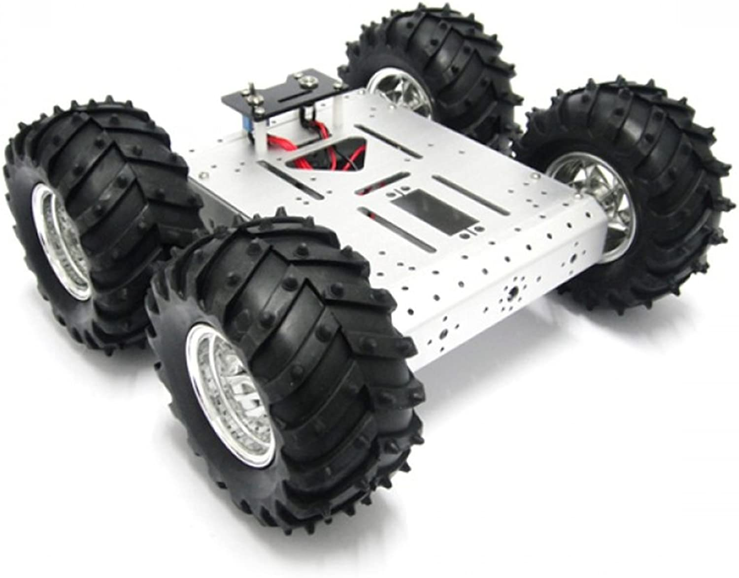 4WD Aluminum Mobile Robot Platform This platform can be equipped with a variety of controllers, drives, sensors and wireless radio frequency modules, etc.