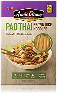 Annie Chun's Brown Rice Noodles, Pad Thai | Vegan, 8-oz (Pack of 6) | Gluten-Free Alternative to Linguine Pasta