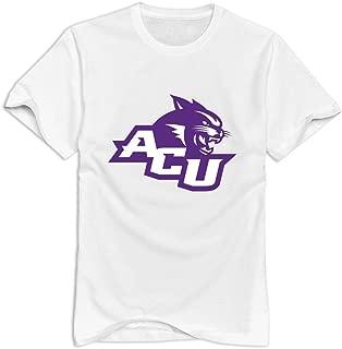 Abilene Christian Wildcats 100% Cotton T-shirt For Men