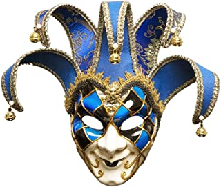 Masquerade Ball Mask Venetian Jolly Couple Mask Mens Vintage Greek Roman Mardi Gras Party Mask Party Costume Accessory for Birthday Fashion Shows Halloween Christmas Carnivals Zhhlaixing