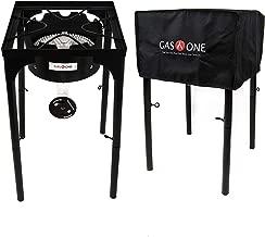 GasOne B-3600H Propane Cover 200,000-BTU Brewing Burner with Adjus, Black