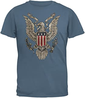 4th of July Born Free American Eagle Mens T Shirt