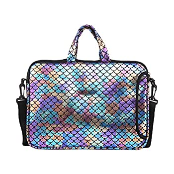 11.6-Inch Laptop Shoulder Messenger Carrying Bag Case Sleeve For 11  11.6  12  12.5 inch Macbook/Notebook/Ultrabook/Chromebook Mermaid Scale  Colorful