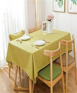 Multicolor Sólido Decorativo Mantel de Lino Impermeable A Prueba de Aceite Grueso Rectangular Boda Mesa de Comedor Cubiert...