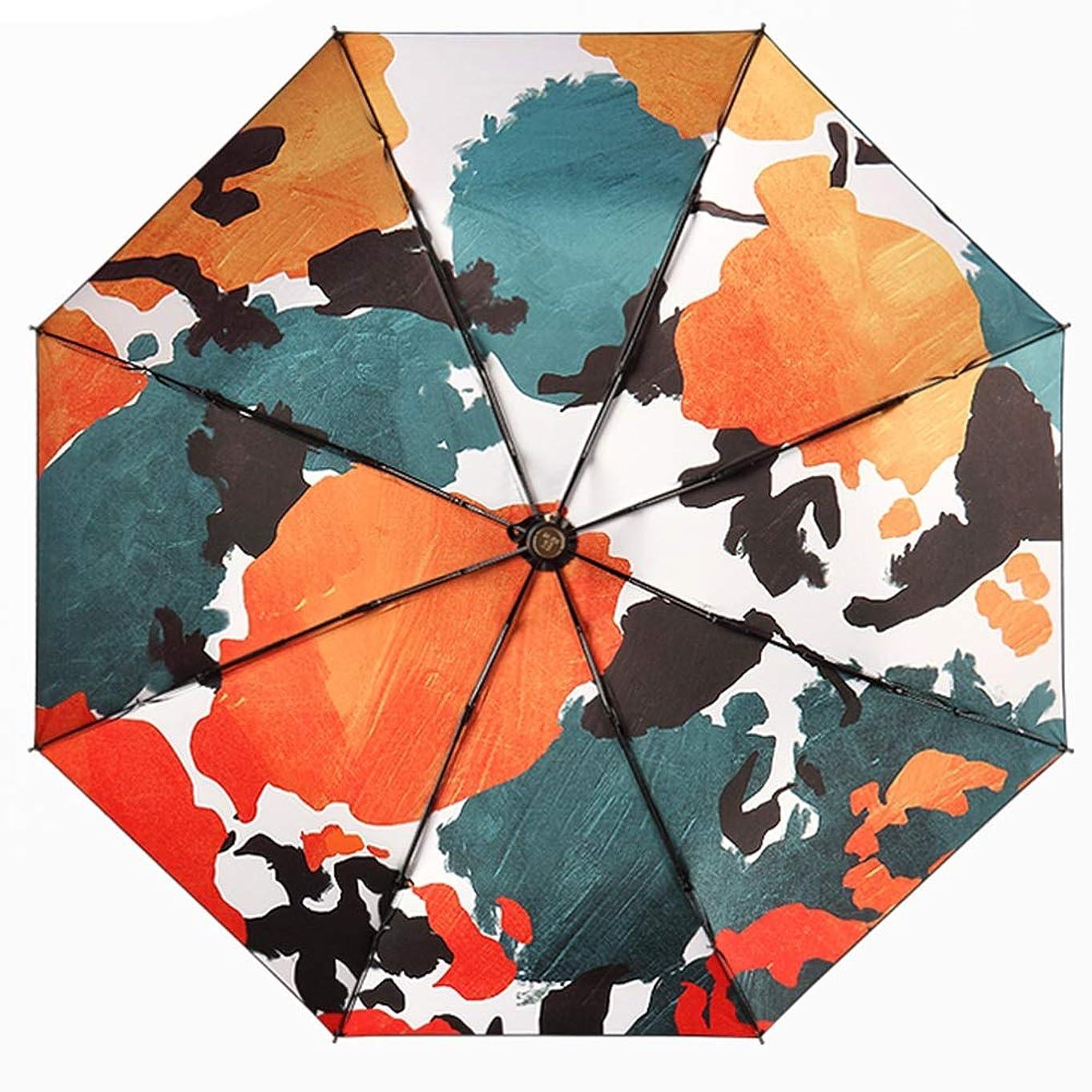 航空美しいワインDCAH 傘、ビニールカラフルな超軽量抗UV Foldableミニ雨と雨の傘4オプション 傘立て (色 : C)