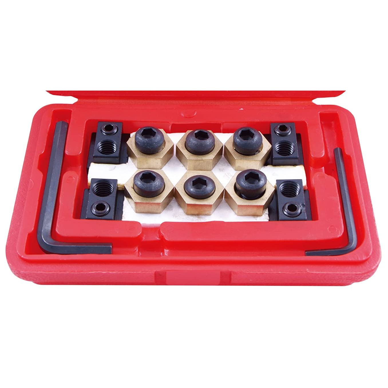 HHIP 3900-0318 Steel 4-Piece T-Slot Clamping Nut Kit, 5/8