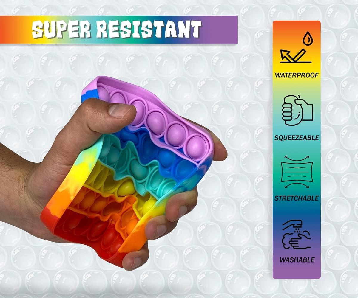 2 Pack Push Pop Bubble Fidget Sensory Toy Poppets Fidgets Fidget Packs Poppit Fidget Toy Fidget Toys Simple Dimple Fidget Popper Poppet Fidget Toy Popitz Fidget Toy Rainbow Fidget Popper