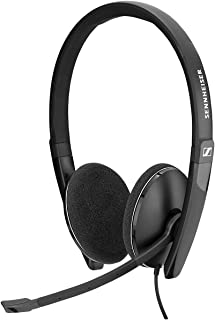 Sennheiser PC 3.2 Chat, noise cancelling microphone, casual gaming lightweight, high comfort, minimalistic design, call control, foldable mic - 3.5mm jack, 3 pole connectivity