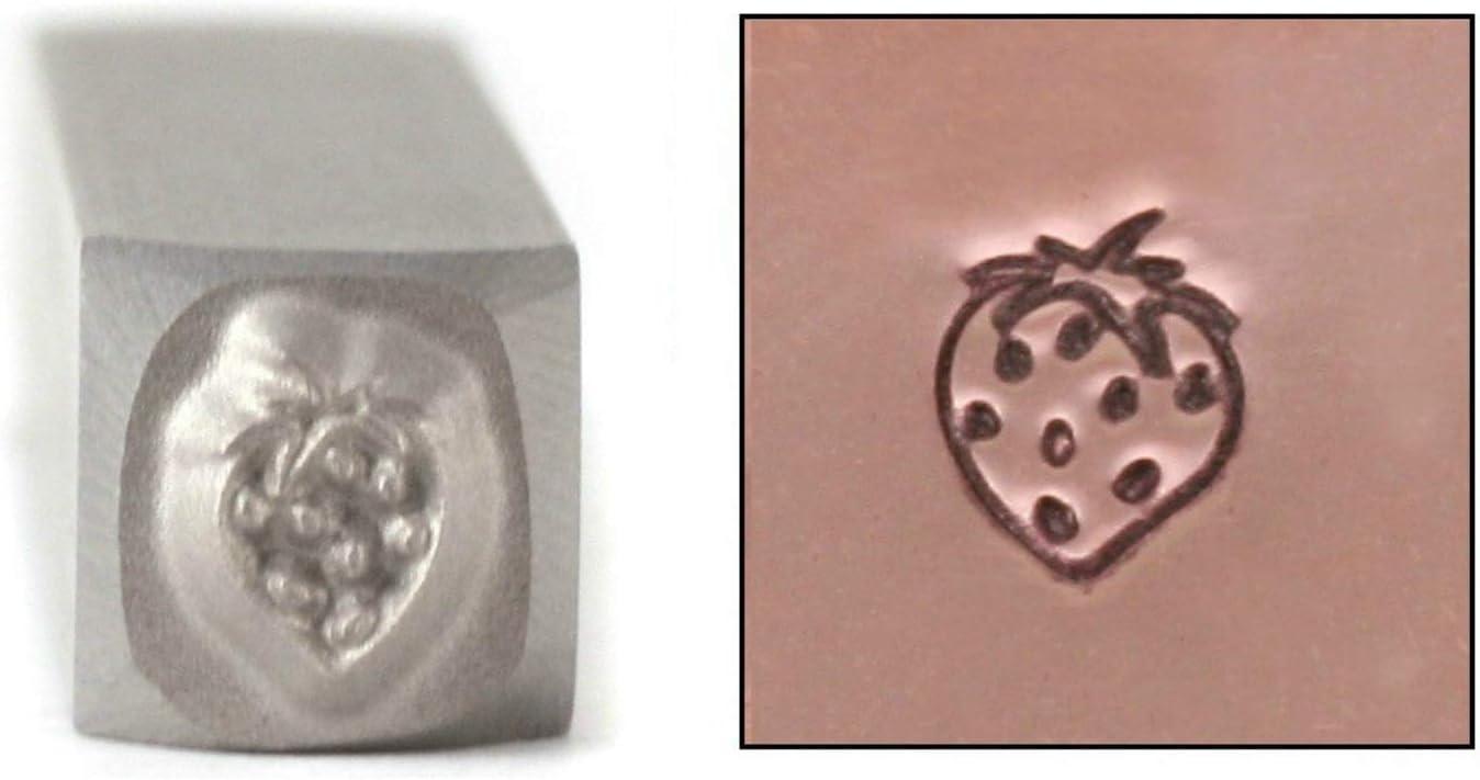 Strawberry Metal Design Stamp 5mm Farmer Fruit Vintag Cheap bargain Soldering Gardening
