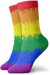Dydan Tne, Niños Niñas Locos Divertidos LGBT Gay Lesbian Flag Calcetines Lindos Calcetines de Vestir de Novedad
