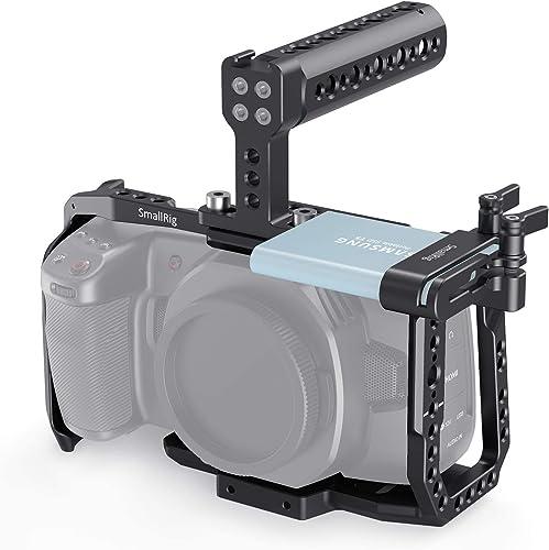 SmallRig Cage Kit for Blackmagic Design BMPCC 4K & 6K Camera, with Camera Cage Top Handle SSD Mount Holder for Samsun...