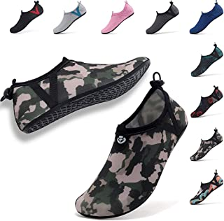 Womens Mens Water Shoes Adjustable Aqua Socks for Outdoor Swimming Beach Surfing