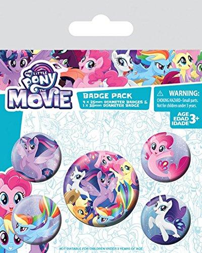 1art1 My Little Pony - Movie, Sea Ponies, 1 X 38mm & 4 X 25mm Chapas Set De Chapas (15 x 10cm)