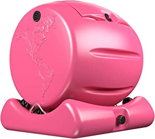 Envirocycle The Cutest Composter in The World in Pink, Made in The USA, Food Safe, BPA and Rust Free, No Assembly Required, Mini Composting Tumbler Bin and Compost Tea Maker