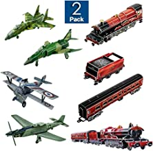 3D Puzzles for Kids - 2 Set Combo - Jet Fighter Airplanes and Train Model Toy