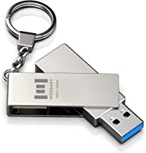 256GB - 300Mb/s USB 3.1 Flash Drive Fast Speed and Rugged Metal Thumb Drive with Keychain USB3.1 256 GB 360-degree Jump Drive for Data Storage - Silver by MOSDART