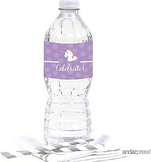 unicorn bottle label template