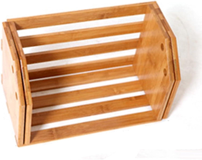 LQQGXLoffice Furniture Desktop Shrinking Bookshelf, Shelf Storage Box Office Desktop Finishing Box
