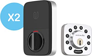 2 Pack Ultraloq U-Bolt Bluetooth Enabled Keypad Smart Deadbolt Door Lock, Satin Nickel