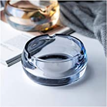 YY&QIANG Glass Ash Tray Ornaments Ashtray Creative Desktop Free Standing Tabletop Living Room Coffee Table Office Househol...