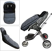 CozyMe Stroller Sleeping Bag-High Performance Universal Stroller Footmuff Sack-Front Piece Adjustable&Removable Bunting Bag- Adaptable for All Kinds Pram Buggy Pushchair-Heather Grey