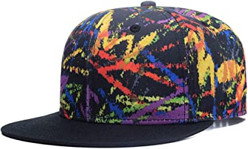 Quanhaigou Galaxy 3D Printed Adjustable Baseball Cap,Unisex Hip Hop Snapback Flatbrim Hats