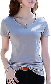 【スリーズ ドュラ セゾン】レディース トップス 半袖 カットソー Tシャツ 無地 シンプル コットン 綿 白 黒 グレー7色
