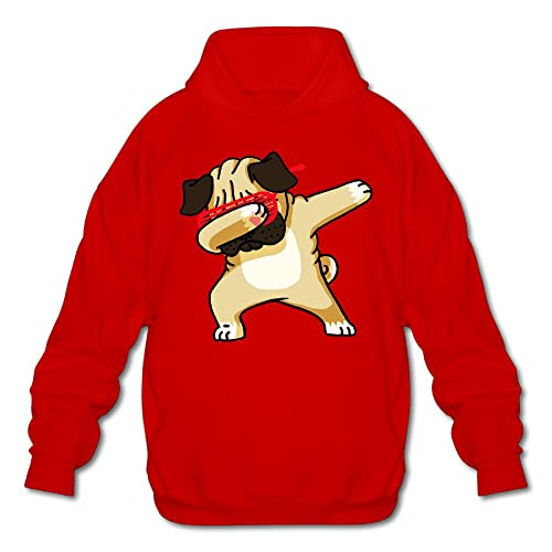 89bbfdb52e97 Dabbing Pug Mens Hoodies Sweatshirt Fashion Casual Coat Black