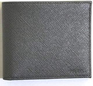 Portaf Orizzontale Saffiano Mercurio Gray Leather Men's Bifold Wallet 2MO513