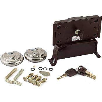 Europa Stainless Steel Centre Shutter Lock and Padlock S-310 Combo (Metallic)