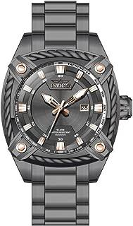 Invicta Men's Bolt Quartz Watch with Stainless Steel Strap, Gunmetal, 24 (Model: 31374)