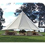 TentHome 4-Season Waterproof Cotton Bell Tent With Stove Hole on Roof Glamping Tent for Camping Travel Christmas Party 4