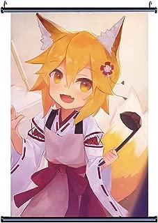 TINGYUANO The Helpful Fox Senko-san Anime Home Decor Poster Cute Fox Wall Scroll Print New