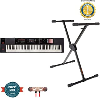 $1849 » Roland FA-08 88-Key Music Workstation with KS-10X Keyboard Stand includes Free Wireless Earbuds - Stereo Bluetooth In-ear and 1 Year Everything Music Extended Warranty