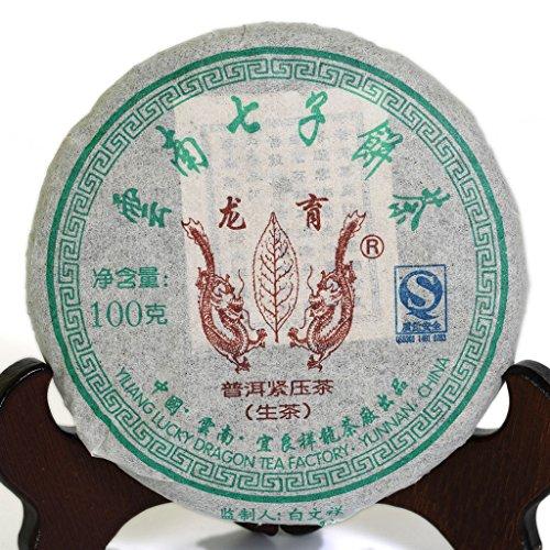 100g (3.5 Oz) 2008 Year Yunnan Aged Lucky Dragon puer pu'er Puerh Tea Raw Small Cake Té