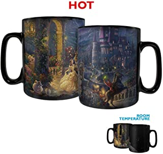 Disney – Beauty and the Beast – Dancing in the Moonlight - Morphing Mugs Heat Sensitive Clue Mug – Full image revealed when HOT liquid is added - 16oz Large Drinkware
