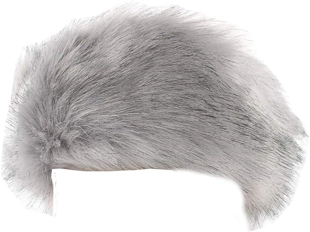 Faux Fur Headband Winter Ear Warmer Earmuff Ski Hat Hairbands Head Wraps for Women