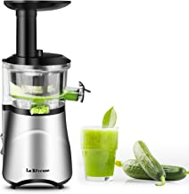 La Reveuse Slow Masticating Juicer Extractor with Quiet Motor Reverse Function and Clean Brush Easy to Operate & Clean -BP...