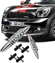 135mm Heinmo Voiture Avant Grille Embl/ème Badge Car Styling 3D en M/étal pour Mini Cuivre John Cooper Travaux Countryman F//R s/érie Universel